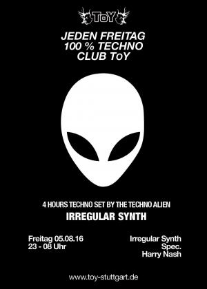 Club Toy Stuttgart - 100 Prozent Techno mit Irregular Synth