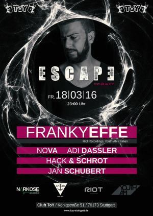 Club Toy Stuttgart - ESCAPE with The Frankyeffe