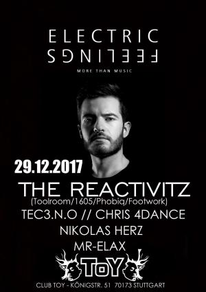 Club Toy Stuttgart - Electric Feelings with: The Reactivitz